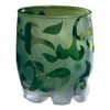 Green Frosted Swirl Votive + Tealight Cup - 3 left