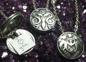 Love + Hearts Reversible Locket