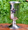 Medieval Midnight Pentacle Pewter Chalice