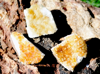 Natural Citrine Cluster ~ Large-ONLY 3
