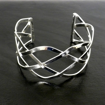 Silver Plated Infinity Cuff Bracelet ~ Only 2