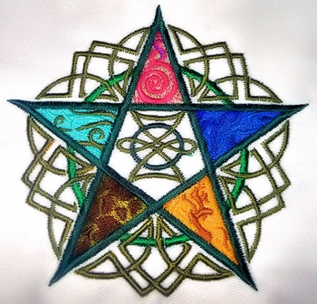 Pentagram of the Elements Altar Cloth