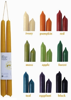 Pure Beeswax Taper Candles - Hand Dipped Pairs - 1 Left