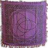 Purple Fringed Triquetra Altar Cloth