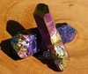 Rainbow Flame Aura Crystal Point