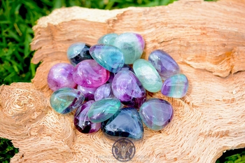 Rainbow Fluorite Tumbled Stone - AA Quality ~ Large