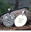 Raven ~ Celtic Strength Pewter Necklace