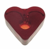 Ruby Heart Glass Mini Candle Holder