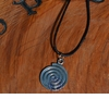 Sacred Spiral ~ Celtic Magick Pewter Necklace - ONLY 2