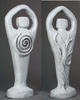 "Spiral Lord Statue 8.5"" - Antiqued White"