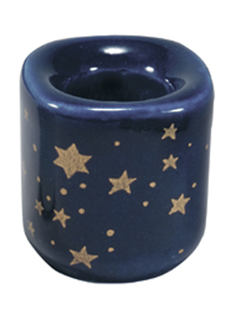 Starry Night Porcelain Mini-Candle Holder