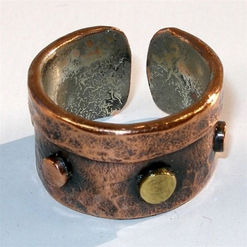 Studded Copper Ring of Powerful Healing ~ Only 1