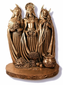 Triple Goddess Statue ~ Cold Cast Bronze