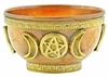 Triple Moon Pentacle Offering Bowl