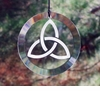 Triquetra Sun Catcher ~ Handmade Artisan Etched Glass