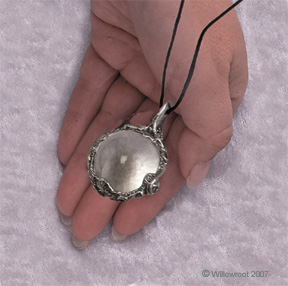 Witch's Scrying Crystal Ball Pendant