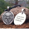 Wolf ~ Celtic Strength Pewter Necklace