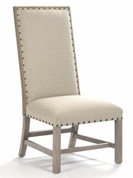 Agata Side Chair (Linen/Burlap - Driftwood) - one pair