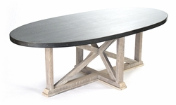 Albertine Dining Table (Zinc Top)