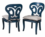 Artifacts Side Chair ( Blue) (one pair)