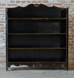 Basilio Distressed Bookcase (Black)