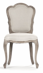Berthe Side Chair (Natural Linen-Limed Grey Oak) - one pair