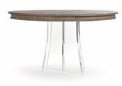 Callum Dining Table (Acrylic Legs)