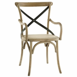 Carla Cross Back Arm Chair (one pair)