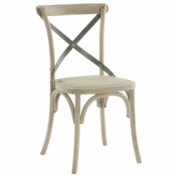 Carla Cross Back Side Chair (one pair)