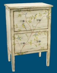CHEST WITH BLUEBIRD AND BRANCH DESIGN