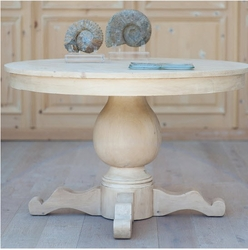 Coastal Chic Pedestal Dining Table (Medium)