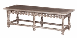 Coffee Table-Bench with Ornamental Apron