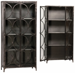 Cosme Iron Glass Cabinet