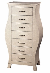 Cream Croc Chest of Drawers
