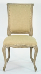 Dijon Side Chair (Hemp Linen-Limed Grey Oak) - one pair