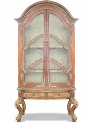 Dutch Cabinet Hand Painted Oak & Celeste