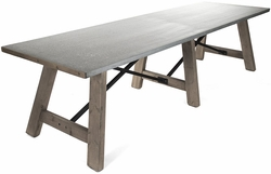 Elbe Dining Table (Zinc Top)