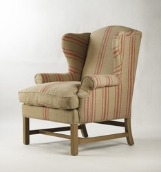 Fabien Club Chair (Red Stripe)