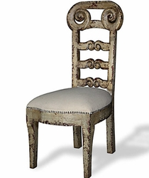French Country Ladder Back Chair (one pair)