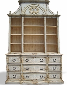 Hand Painted Distressed Bookcase Paris