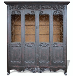 Hand Painted French Country Cabinet