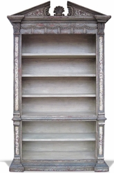 Hand Painted Old World Bookcase, Venetian