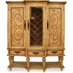 Hand Painted Wine Cabinet, Essex Manor