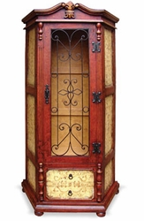Italian Cabinet Old World with Wrought Iron