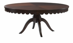 Julianne Scalloped Round Pedestal Dining Table