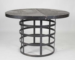 Knightley Recycled Metal Round Dining Table