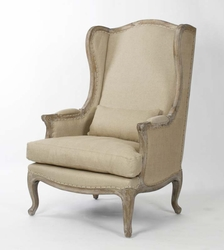 Leon Chair (Hemp-Linen) (Limed Grey Oak)