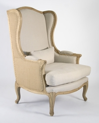 Leon Chair (Natural Linen & Jute)
