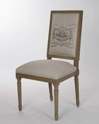 LOUIS SIDE CHAIR (NATURAL LINEN) - one pair