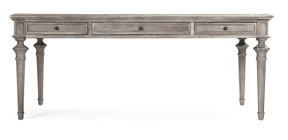 NADINE DINING TABLE LIMED GREY OAK WOOD ZENTIQUE
